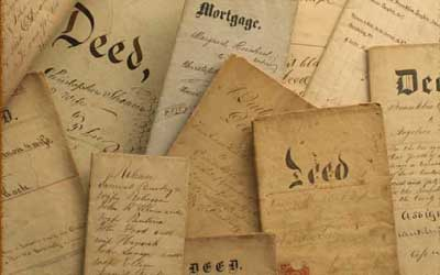 Old documents on parchment paper