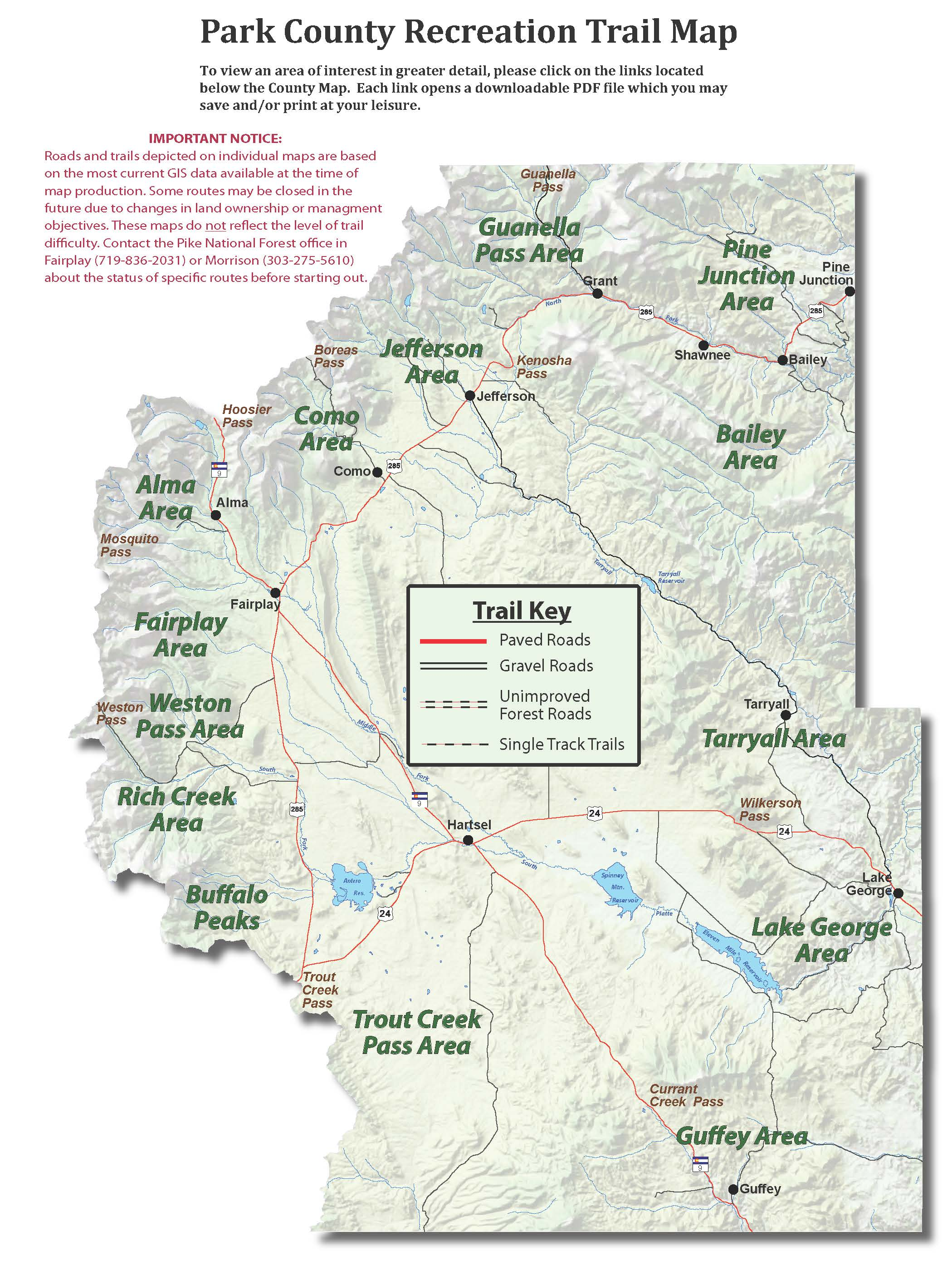 Trail Maps Park County Co