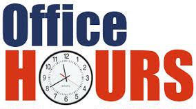 Clock with Office Hours