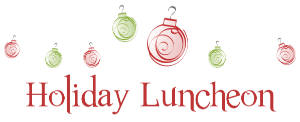 holiday-luncheon sign
