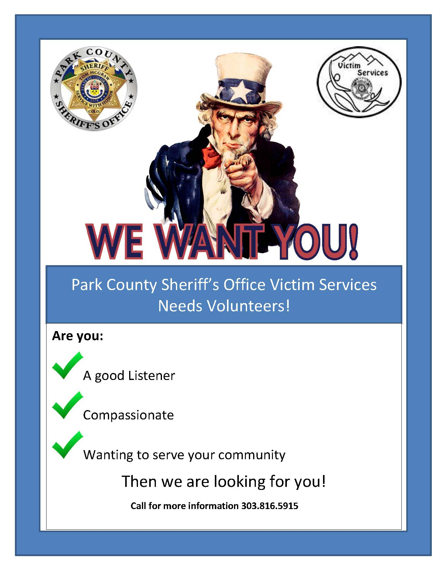 Victim Services Volunteer Flyer